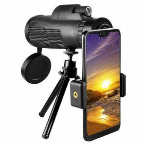Monocular Telescope Phone Camera Zoom Starscope Hiking Hunting Tripod Full HD