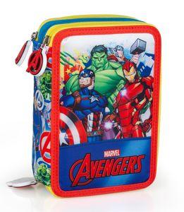 Avengers Federtasche gefüllt 44 tlg. Federmäppchen Federmappe Buntstifte Mäppchen bunt