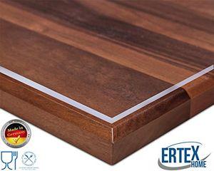 Ertex Tischdecke Tischfolie Schutzfolie Transparent 2,2 mm 1A Qualität geeignet für den Kontakt mit Lebensmitteln ( Transparent, 90 x 160 cm )
