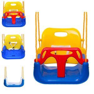 Babyschaukel 3 in 1 Kindersitz verstellbar, Rückenlehne und Sicherheitsgurt für Baby- und Kinderschaukel blau