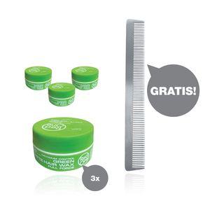 RedOne Matte Wax Full Force 3 x 150ml + HairForce Aluminium Ondulierkamm gratis