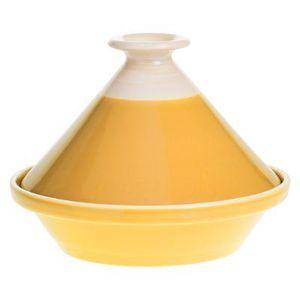 Geschirr für marokkanische Gerichte TAJINE, Keramik, gelb