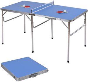 Mini Tischtennistisch Indoor   Tischtennisplatte Faltbare Midsize   Sportspielset 2 Paddeln und 3 Bällen für Indoor & Outdoor