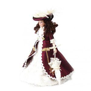 2x1/12 Scale Puppenhaus Miniatur Porzellan Puppen Menschen Sieg Dame mit Hut