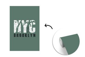 Tapeten - Fototapete - New York - NYC - Groen - 160x240 cm - Vinyl