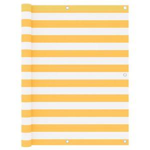 Balkon Sichtschutz Sonnenschutz wasserdicht Weiß und Gelb 120x400 cm Oxford-Gewebe|Balkonbespannung Balkonabdeckung