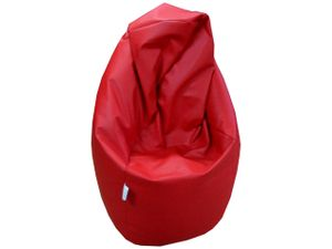 Natalia Spzoo Sitzsack Medium Point aus kunstleder - Rot
