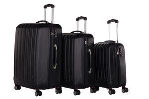 Packenger  Koffer 3er-Set Velvet M, L+XL in Schwarz, 54x31x78 cm; 103-003P-05