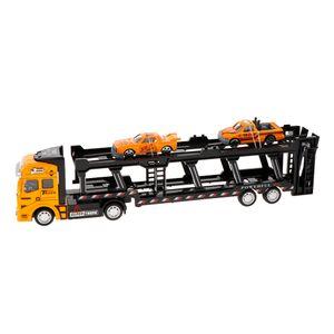 Friction Powered Transport Car Carrier Truck Spielzeug für Jungen Mädchen Farbe Gelb