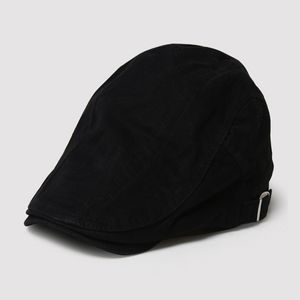 Herren Baskenmütze Schirmmütze Golfmütze Sportmütze Farbe Schwarz