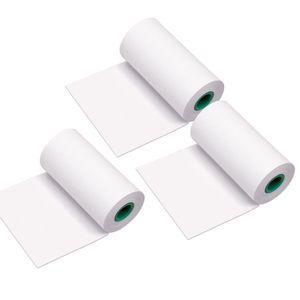 Aibecy 3-Rollen Peripage Papierrollen 10 Jahre langlebige Thermopapierrolle 56 * 30 mm BPA freie schwarze Schrift für PeriPage A6 / A8 / P6 Paperang P1 / P2 Thermodrucker