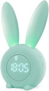 Kinderwecker,Kinder Lichtwecker Cute Rabbit Wake Up Kinderwecker Creative (grün)
