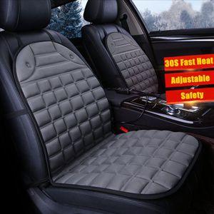 Auto PKW Doppelsitz Sitzheizung Heizkissen Beheizbare Pad Sitzauflage Universal Grau