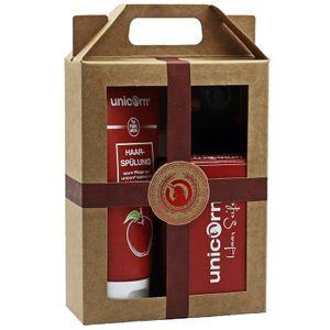 Geschenk-Set unicorn® Haarseife 100g + Spülung 150ml