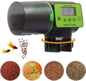 200ml Automatischer Fischfutterautomat für Aquarien Feeder mit Fischfütterungsring kleiner Aquariumfutterautomat