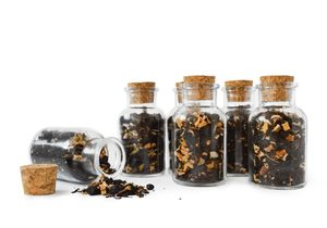 12 Gewürzgläser mit Korkverschluss 180ml Vorratsdose Gewürzdosen Glasdose Vorratsgläser