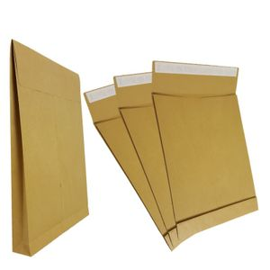 100 Faltentaschen DIN B4 Braun 250 x 353 x 40 mm