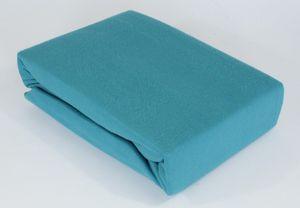 Microfaser Kuschel Fleece Spannbettlaken Spannbetttuch Bettlaken Laken 100 x 200, Farbe:PETROL