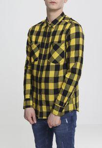 Urban Classics Hemd Checked Flanell Shirt Black/Honey-XL