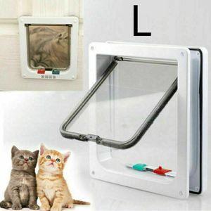 Katzenklappe 4 Wege Katzentür Kleine Hundeklappe L Haustierklappe Eingangskontrolle System Cat Door