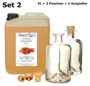 Barbecue Rauch Schinken Essig 5L mit 2 Flaschen u. Ausgießern kräftig deftig & herzhaft 5% Säure