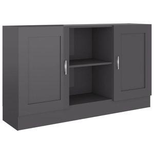 vidaXL Sideboard Hochglanz-Grau 120x30,5x70 cm Spanplatte