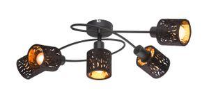 Globo Lighting TROY Deckenleuchte Metall schwarz, 5xE14, 54121-5