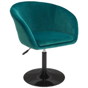 Duhome Clubsessel Lounge Sessel in petrol blau grün Sessel Cocktailsessel Stoff Samt