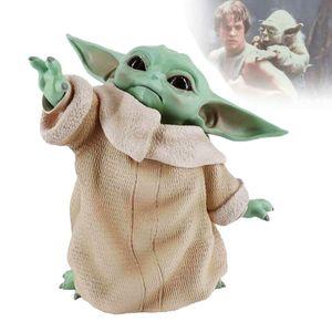 8cm Star Wars Baby Yoda Figuren Film Actionfigur Spielzeug Sammeln Spielwaren Spielzeugfiguren Geschenk Actionfiguren
