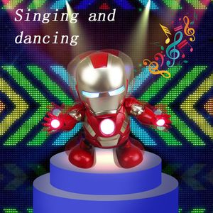 Tanzen Iron Man Toy Tiktok Roboter Elektronisch mit LED-Licht Gesang Marvel Avengers Geschenk fš¹r Kinder Erwachsene