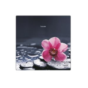 BEURER GS 215 Relax Glaswaage, Farbe:Flowers