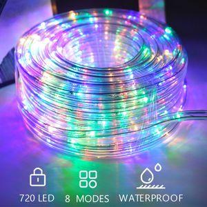 Hengda 30m LED Lichterschlauch Aussen Lichtschlauch mit 720 LEDs mit 8 Modi Wasserdicht Schlauch Lichterkette Outdoor fuer Thanksgiving, Weihnachten, Weihnachtsbaum, Garten, Terrasse, Balkon