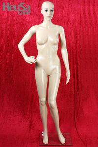Schaufensterpuppe mit beweglichem Kopf, weiblich