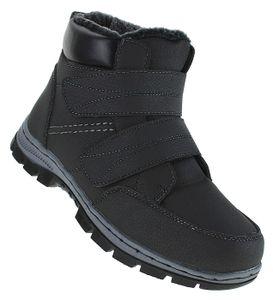 Klett Winterstiefel Outdoor Boots Stiefel Winterschuhe Herrenstiefel Herren 080, Schuhgröße:41, Farbe:Schwarz