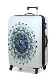 Koffer Mandala Hartschalen Travel Gepäck Design Weiss 78 Bowatex