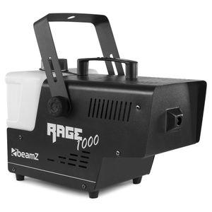BeamZ Rage 1000 Nebelmaschine mit Fernbedienung - 1000 Watt , Ausstoßvolumen: 125 m³ pro Minute , Tankvolumen: 2 Liter , Aufheizzeit: 4 Minuten , Nachheizzeit: 1 Minute , Funk- und Kabelfernbedienung