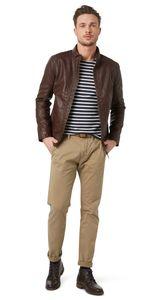 Tom Tailor Travis Herren Chinohose Regular mit Gürtel, Tom Tailor Farben:Chinchilla, Jeans Größen:W32/L34