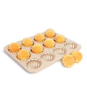 12 Madeleine Backformen, Kuchenform, antihaftbeschichtet, Banana