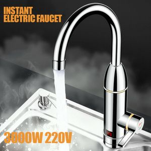 3000W Sofort Elektrisch Wasserhahn Durchlauferhitzer Warmwasser Digitalanzeige