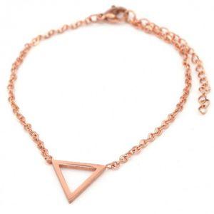 gliederarmband Triangle Damen Edelstahl Roségold