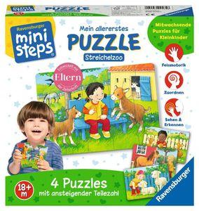 Ravensburger ministeps Spielzeug Mein allererstes Puzzle Streichelzoo 04535