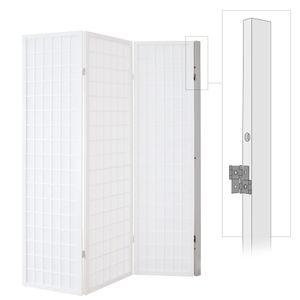 Homestyle4u 1106, Wandhalterung Wandhalter für Paravent, Wandbefestigung für Raumteiler, Weiß