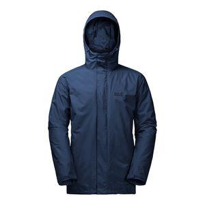 JACK WOLFSKIN Iceland 3in1 Men - Doppeljacke, Größe_Bekleidung:Short Size M, Wolfskin_Farbe:dark indigo