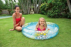 Intex Pool Planschbecken für Kinder 2-Ring 122 x 25 cm Sterne blau