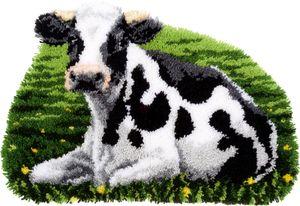 Vervaco PN-0157078 Knüpfteppich Kuh