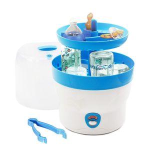 H+H BS 29b Babyflaschen Sterilisator für 6 Flaschen, Blau