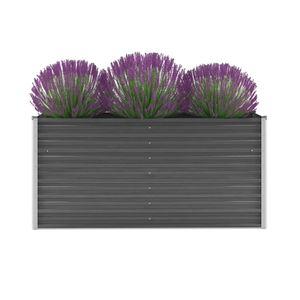 anlund Garten-Hochbeet Verzinkter Stahl 160x40x77 cm Grau
