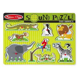 Soundpuzzle aus Holz - Zootiere
