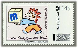 4 Cartoon-Briefmarken 'Indianer' á 145ct. Porto, 2015 M-ware® ID15583