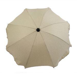 BAMBINIWELT Sonnenschirm für Kinderwagen Ø68cm UV-Schutz50+ Schirm Sonnensegel Sonnenschutz MELIERT beige